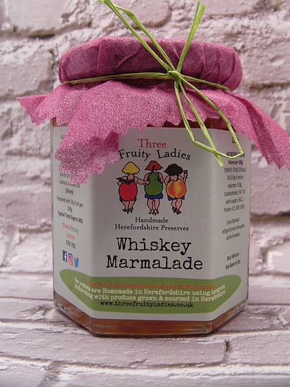 Whiskey Marmalade handmade by Three Fruity Ladies