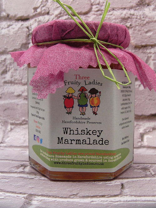 Whiskey Marmalade handmade by Three Fruity Ladies