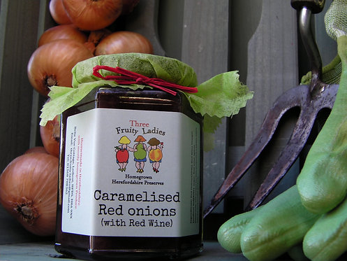 Caramelised Red Onions handmade by Three Fruity Ladies