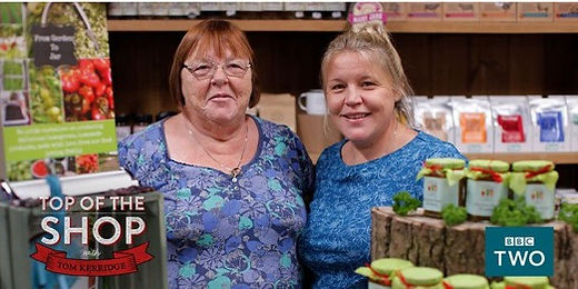 Pam and Emily featured on BBC2 Top of the Shop
