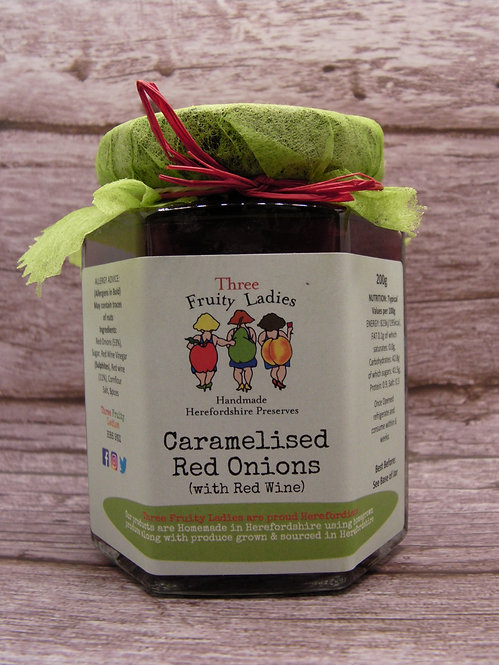 Caramelised Red Onions handmade by Three Fruity Ladies