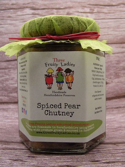 Spiced Pear Chutney handmade by Three Fruity Ladies