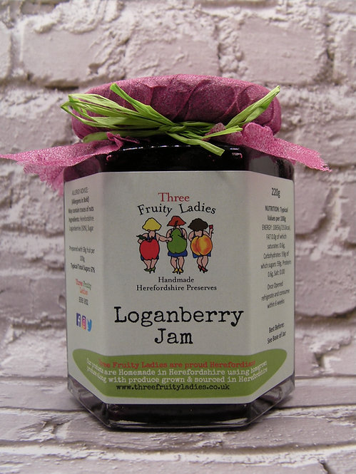 Loganberry Jam handmade by Three Fruity Ladies