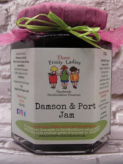 Damson and Port Jam handmade by Three Fruity Ladies