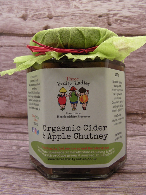 Apple Chutney with Orgasmic Cider handmade by Three Fruity Ladies
