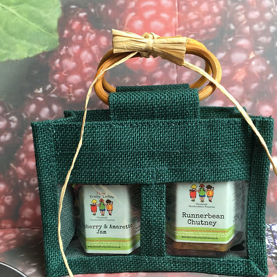 Green Twin Jar Gift Set from Three Fruity Ladies