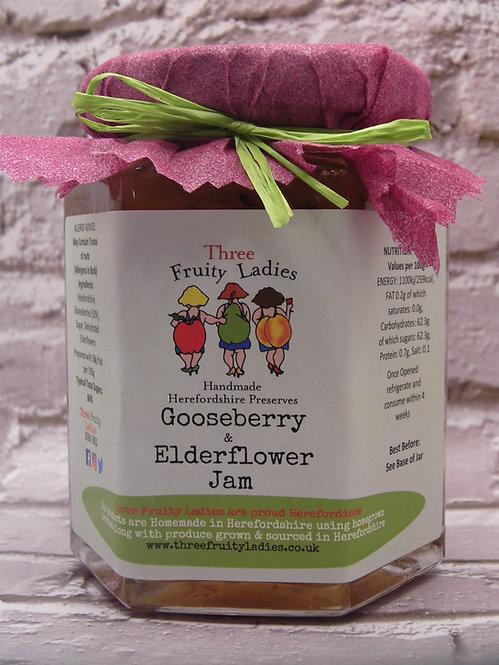 Gooseberry & Elderflower Jam handmade by Three Fruity Ladies
