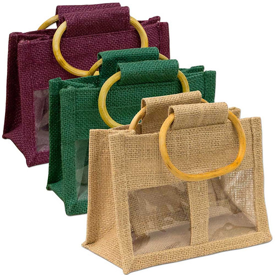 Jute Jar Bags available from Three Fruity Ladies