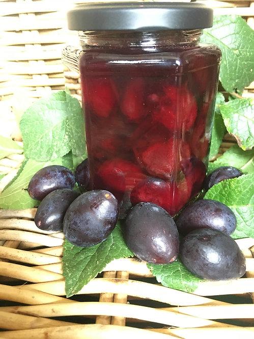 Sweet Pickled Damsons handmade by Three Fruity Ladies