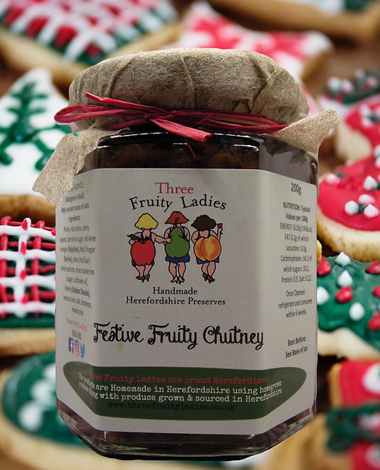 Festive Fruity Chutney handmade by Three Fruity Ladies