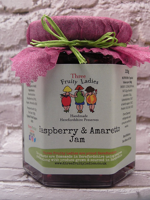 Raspberry Jam with Amaretto handmade by Three Fruity Ladies