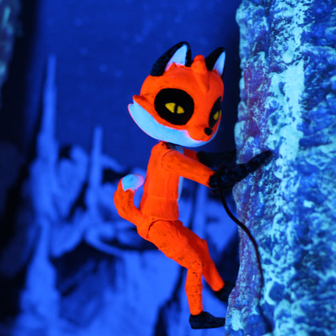 some productions call for stop motion and experimental video sequences. Always a good time. I created this action figure Foxi, while Michael Serwich provided more background elements from his personal collection.