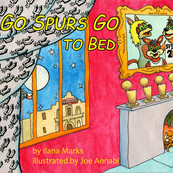 """The cover to a Good Night Moon parody I was comissioned to illustrate for the web series """"Pop's Culture"""" which heavily references the San Antonio Spurs NBA team."""