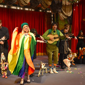 Foxi got to take the stage with some classic Bob Baker Marionettes during the finale of When Puppets Are Your Only Friends March 2018