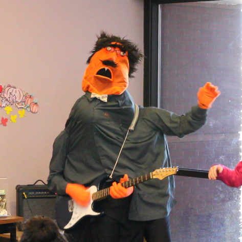 From a No Shave November event at Erna Fergusson Public Library in Albuquerque, NM 2015. Danny Crouch accompanied me in the costume and played electric guitar to accompany my vocals.