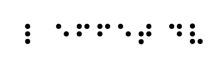 L effet DV - texte en braille | L'effet DV
