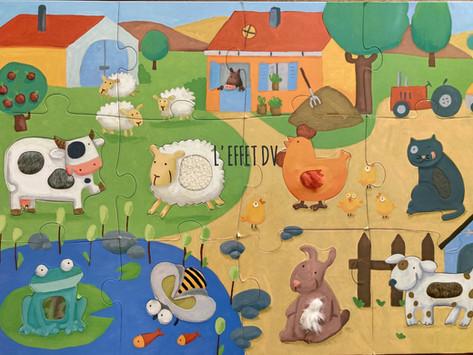 Puzzle Géant Tactiloferme de Djéco - dès 3 ans