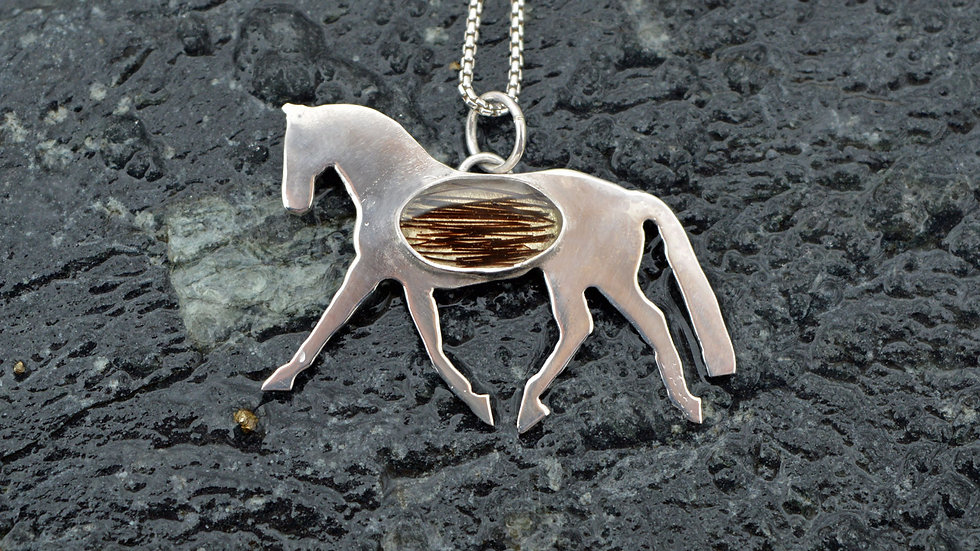 Sterling Silver Resin Dressage Horse