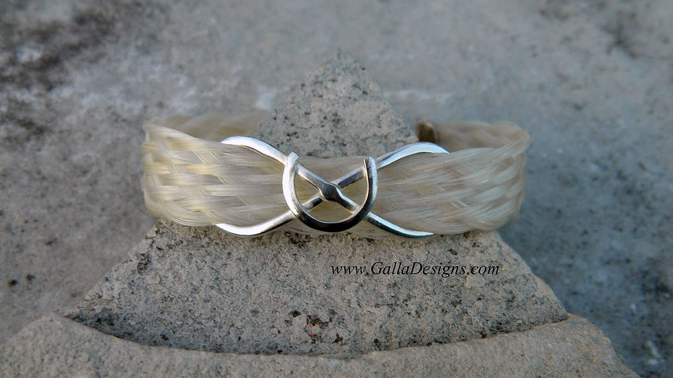 Flat Braid Infinity Horseshoe