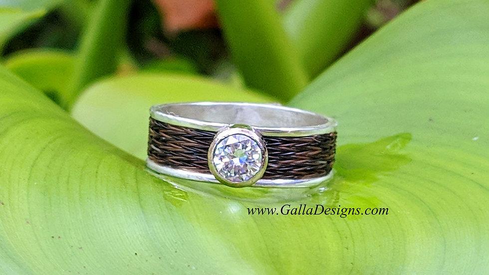 Woven Ring - tube setting