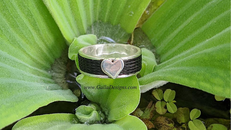 Woven Ring -Heart