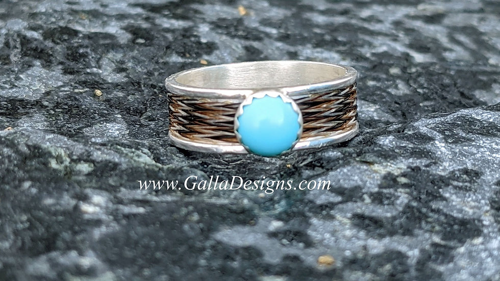 Woven Ring - Turquoise