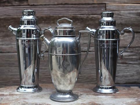 Vintage Martini Shakers