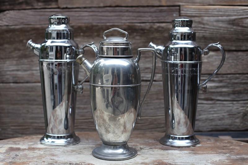 Silver martini shakers