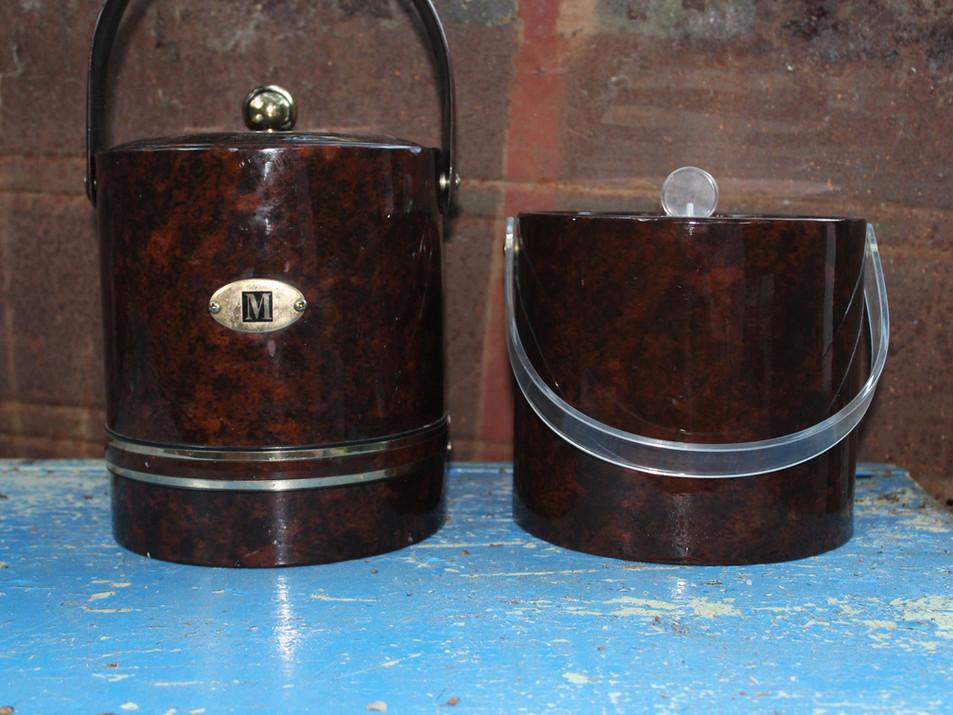 Brown 60's Ice Buckets