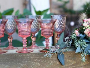 Pink stemware