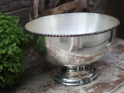Large silver flower vessel
