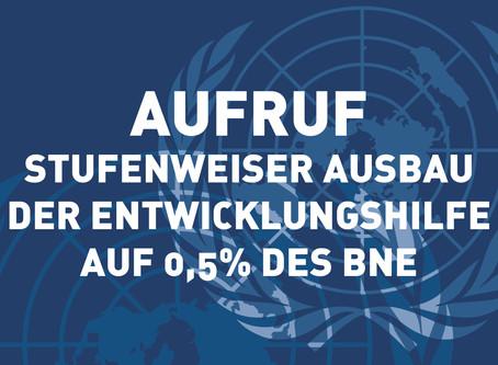 Appel: Proposition de la CPE-N d'augmenter progressivement le taux d'APD à 0.5% du RNB