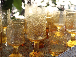 70's Crinkle Glassware