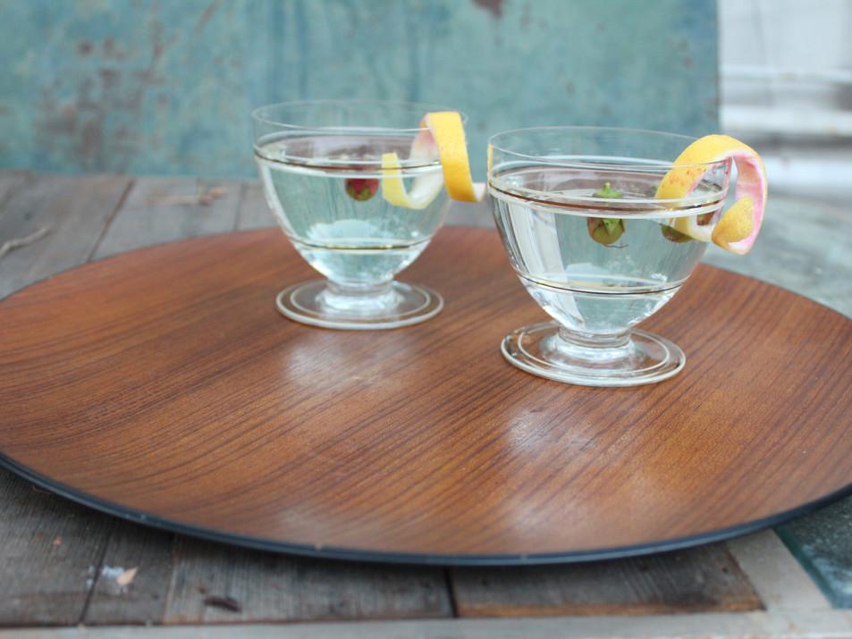 Teak cocktail trays