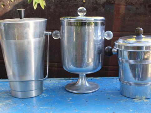 Silver ice buckets