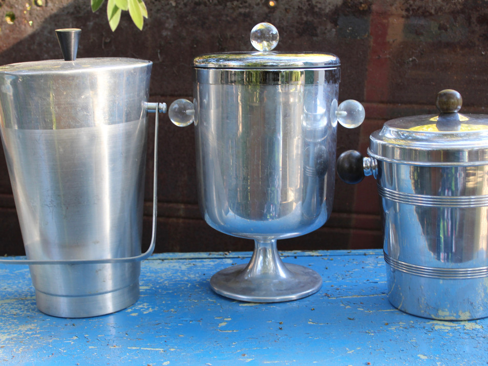 Silver ice buckets