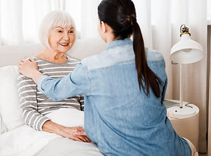 A live-in carer providing advanced care