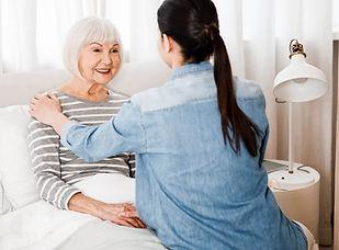 A live-in carer providing advanced care