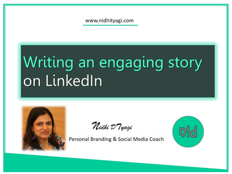 Writing an engaging story on LinkedIn