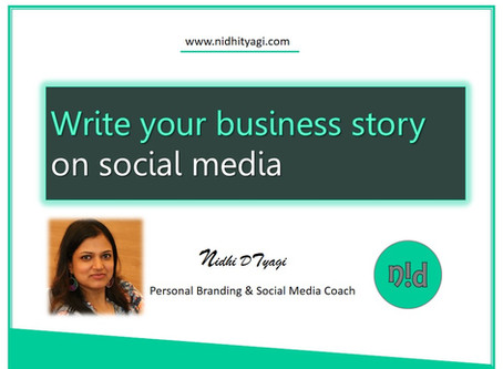 Write your business story on Social Media