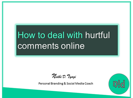 Dealing With Hurtful Comments Online