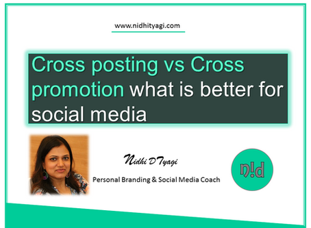 Cross-posting Vs. Cross-promotion, what is better for social media?