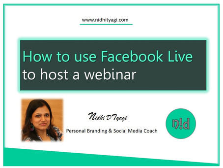 How to use Facebook Live to host a Webinar