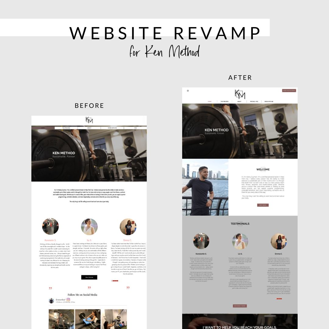 KEN METHOD revamp website by bridgette karl of forty-ninth street