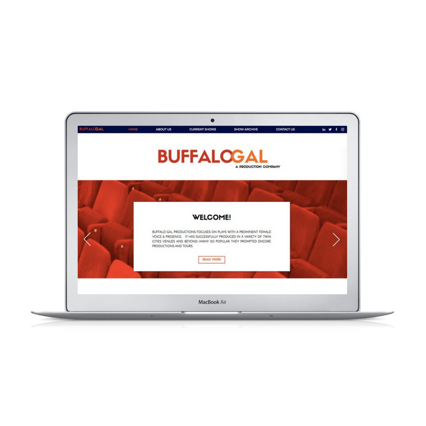 Wix Website Design for Buffalo Gal Productions by Bridgette Karl of fory-ninth street, websites for actors