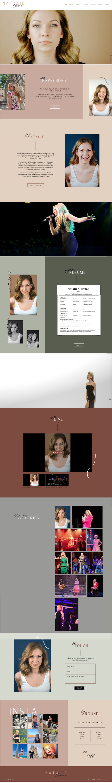 Wix Website revamp for natalie gorman by Bridgette Karl of forty-ninth street