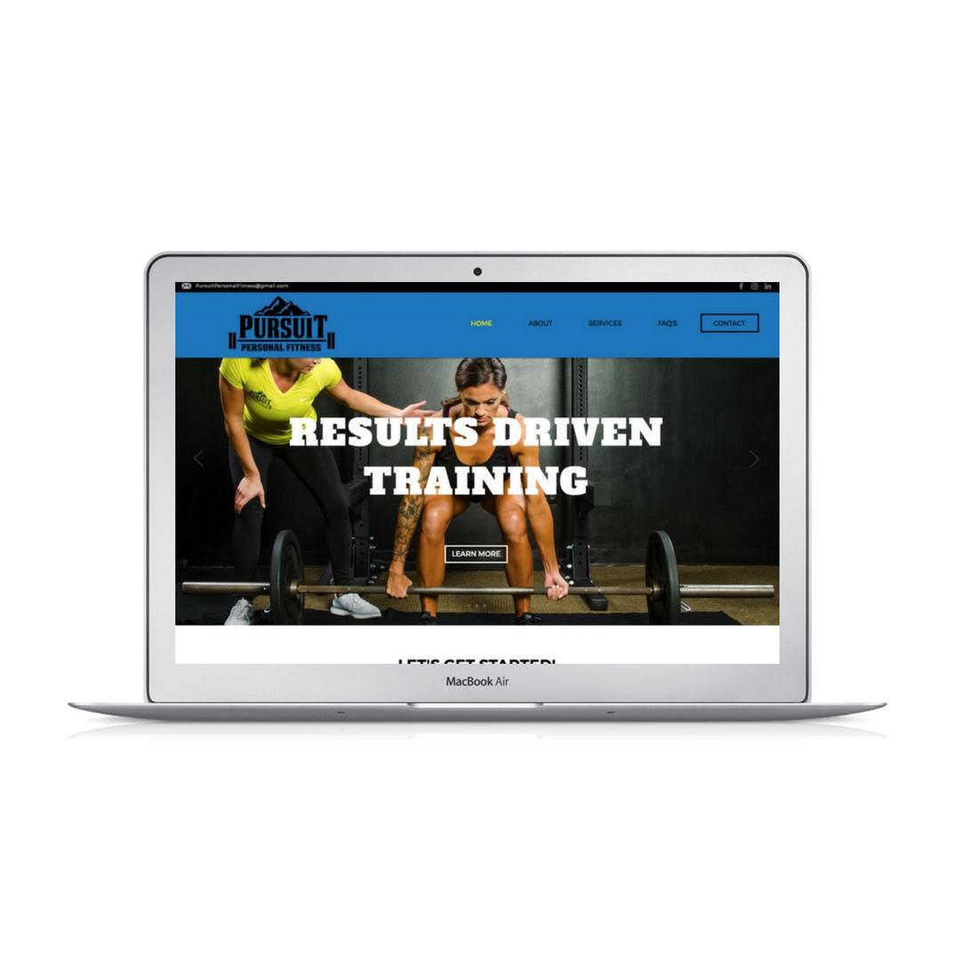 Wix website design for Pursuit Personal Fitness by Bridgette Karl of forty-ninth street, website design for actors