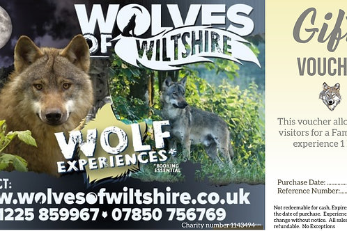 Family Wolf Experience Gift Voucher - 1 Adult & 1 Child
