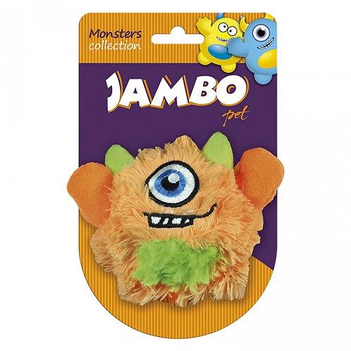Bola Pequena Monster Pelucia Laranja Jambo Pet