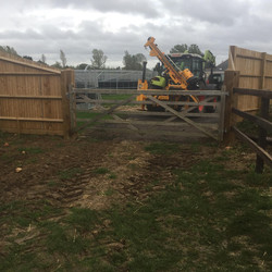 12' gate supplied by customer